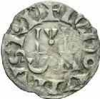 Photo numismatique  MONNAIES ROYALES FRANCAISES LOUIS VI (29 juillet 1108-1er août 1137)  Denier du 6ème type, frappé à Pontoise.