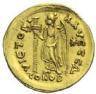 Photo numismatique  MONNAIES EMPIRE ROMAIN ZENON (474-491)  Solidus frappé à Constantinople.
