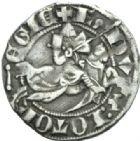 Photo numismatique  MONNAIES BARONNIALES Duché de LORRAINE RAOUL (1329-1346).  Spadin ou quart de gros.