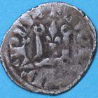 Photo numismatique  MONNAIES BARONNIALES Comté de LA MARCHE CHARLES de France (1315-1322) Denier tournois.