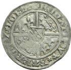 Photo numismatique  MONNAIES BARONNIALES Duché de LORRAINE RENE Ier (1419-1480) Demi gros frappé à Nancy.