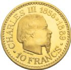 Photo numismatique  MONNAIES MONNAIES DU MONDE MONACO RAINIER III (1949-2005) Essai de 10 francs or, 1966.