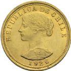 Photo numismatique  MONNAIES MONNAIES DU MONDE CHILI République (depuis 1821) 10 condores ou 100 pesos 1926.