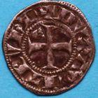 Photo numismatique  MONNAIES BARONNIALES Duché d'AQUITAINE EDOUARD Ier (1272-1307) Obole au léopard. 3e type.