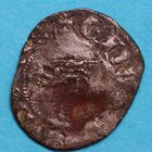 Photo numismatique  MONNAIES BARONNIALES Duché d'AQUITAINE EDOUARD III (1327-1362) Denier au léopard. 3e type.
