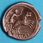 Photo numismatique  MONNAIES RÉPUBLIQUE ROMAINE Monnayage anonyme (vers 157-155)  Denier.