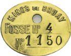 Photo numismatique  ARCHIVES VENTE 2013 -Coll Henri Dolet JETONS ET MEDAILLES DES MINES Jetons de lampisterie ou Taillettes  773- Bruay, lot.