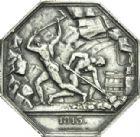 Photo numismatique  ARCHIVES VENTE 2013 -Coll Henri Dolet JETONS ET MEDAILLES DES MINES PARIS (Seine)  763- Jeton du charbon de terre, 1813.