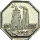 Photo numismatique  ARCHIVES VENTE 2013 -Coll Henri Dolet JETONS ET MÉDAILLES DES MINES Fonderies et Forges d'ALAIS (Gard)  760- Jeton 1829.