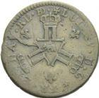 Photo numismatique  ARCHIVES VENTE 2013 -Coll Henri Dolet JETONS ET MEDAILLES DES MINES Mines de BEARN  759- Seize deniers, Pau 1728.