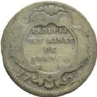 Photo numismatique  ARCHIVES VENTE 2013 -Coll Henri Dolet JETONS ET MÉDAILLES DES MINES Mines de BEARN  759- Seize deniers, Pau 1728.