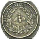 Photo numismatique  ARCHIVES VENTE 2013 -Coll Henri Dolet JETONS ET MEDAILLES DES MINES Mines de VIEUX-CONDE (Nord)  758- Jeton de hercheur.