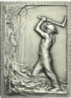 Photo numismatique  ARCHIVES VENTE 2013 -Coll Henri Dolet JETONS ET MÉDAILLES DES MINES Mines de LENS (Pas-de-Calais)  752- Plaquette.