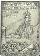 Photo numismatique  ARCHIVES VENTE 2013 -Coll Henri Dolet JETONS ET MEDAILLES DES MINES Mines de LENS (Pas-de-Calais)  752- Plaquette.