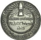 Photo numismatique  ARCHIVES VENTE 2013 -Coll Henri Dolet JETONS ET MEDAILLES DES MINES Mines de l'Escarpelle à FLERS (Nord)  746- Médaille.