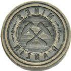 Photo numismatique  ARCHIVES VENTE 2013 -Coll Henri Dolet JETONS ET MEDAILLES DES MINES Mines d'ANZIN (Nord)  739- Matrice.