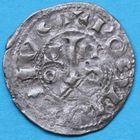 Photo numismatique  MONNAIES BARONNIALES Comté de ROUSSILLON GAUSFRED III (1115-1164) Denier.