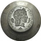 Photo numismatique  ARCHIVES VENTE 2013 -Coll Henri Dolet MEDAILLES DE GRAND MODULE Coins divers  722- Coins de l'essai de 5 francs 1848 par Vauthier-Galle.
