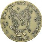 Photo numismatique  ARCHIVES VENTE 2013 -Coll Henri Dolet MEDAILLES DE GRAND MODULE Valenciennes  716- Tricentenaire du rattachement de Valenciennes en 1978.