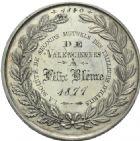 Photo numismatique  ARCHIVES VENTE 2013 -Coll Henri Dolet MEDAILLES DE GRAND MODULE Valenciennes- Sociétés diverses  707- Société des secours mutuels des tailleurs d'habits, fondée en 1840.