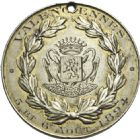 Photo numismatique  ARCHIVES VENTE 2013 -Coll Henri Dolet MÉDAILLES DE GRAND MODULE Valenciennes- Sociétés diverses  705- Concours de Tabac des 5 et 6 août 1894 à Valenciennes.