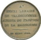 Photo numismatique  ARCHIVES VENTE 2013 -Coll Henri Dolet MÉDAILLES DE GRAND MODULE Valenciennes- Beaux-Arts  696- Lot. Henri Lemaire.