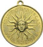 Photo numismatique  ARCHIVES VENTE 2013 -Coll Henri Dolet SOCIÉTÉ DES INCAS DE VALENCIENNES   671- Jeton du 50ème anniversaire de la Société des Incas, marche des 6-8 août 1876.