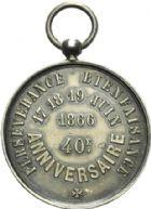 Photo numismatique  ARCHIVES VENTE 2013 -Coll Henri Dolet SOCIETE DES INCAS DE VALENCIENNES   670-  Médaille du 40ème anniversaire de la Société des Incas, marche des 17-19 juin 1866.