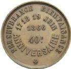 Photo numismatique  ARCHIVES VENTE 2013 -Coll Henri Dolet SOCIETE DES INCAS DE VALENCIENNES   669-  Médaille du 40ème anniversaire de la Société des Incas, marche des 17-19 juin 1866.
