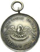Photo numismatique  ARCHIVES VENTE 2013 -Coll Henri Dolet SOCIETE DES INCAS DE VALENCIENNES   664- Jeton en argent de la marche de 1851.