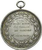 Photo numismatique  ARCHIVES VENTE 2013 -Coll Henri Dolet SOCIÉTÉ DES INCAS DE VALENCIENNES   655- Médaille offerte en 1840.