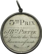Photo numismatique  ARCHIVES VENTE 2013 -Coll Henri Dolet SOCIÉTÉ DES INCAS DE VALENCIENNES   654- Médaille gravée du 12 mars 1831.