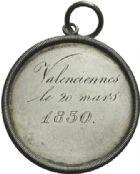 Photo numismatique  ARCHIVES VENTE 2013 -Coll Henri Dolet SOCIÉTÉ DES INCAS DE VALENCIENNES   653- Médaille gravée du 20 mars 1830.