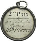 Photo numismatique  ARCHIVES VENTE 2013 -Coll Henri Dolet SOCIETE DES INCAS DE VALENCIENNES   653- Médaille gravée du 20 mars 1830.