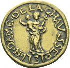 Photo numismatique  ARCHIVES VENTE 2013 -Coll Henri Dolet PLOMBS ET MEREAUX VALENCIENNES  637- Méreaux de Notre-Dame-de-la-Chaussée.