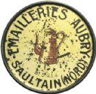 Photo numismatique  ARCHIVES VENTE 2013 -Coll Henri Dolet JETONS et MEDAILLES de la PERIODE MODERNE VALENCIENNES ET NORD Timbre monnaie 633- Emailleries Aubry, Saultrain (Nord).