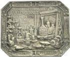 Photo numismatique  ARCHIVES VENTE 2013 -Coll Henri Dolet JETONS et MEDAILLES de la PERIODE MODERNE VALENCIENNES ET NORD  625- Plaquette de la Chambre de Commerce de Valenciennes.