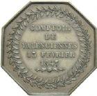 Photo numismatique  ARCHIVES VENTE 2013 -Coll Henri Dolet JETONS et MEDAILLES de la PERIODE MODERNE VALENCIENNES ET NORD  621- Jeton de l'Unité, Comptoir de Valenciennes, le 13 février 1847.