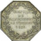 Photo numismatique  ARCHIVES VENTE 2013 -Coll Henri Dolet JETONS et MEDAILLES de la PERIODE MODERNE VALENCIENNES ET NORD  620- Jeton du Comptoir de Valenciennes, le 1er juillet 1838.