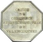 Photo numismatique  ARCHIVES VENTE 2013 -Coll Henri Dolet JETONS et MEDAILLES de la PERIODE MODERNE VALENCIENNES ET NORD  613- Jeton de la Caisse du Commerce et de l'Industrie.