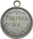 Photo numismatique  ARCHIVES VENTE 2013 -Coll Henri Dolet JETONS et MEDAILLES de la PERIODE MODERNE VALENCIENNES ET NORD  604- Médaille de Pompier.