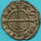 Photo numismatique  MONNAIES BARONNIALES Comté de PROVENCE ALPHONSE Ier et II d'ARAGON (1167-1196-1209) Obole du 1er type.
