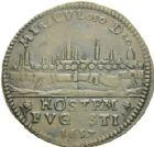 Photo numismatique  ARCHIVES VENTE 2013 -Coll Henri Dolet JETONS DE L'ANCIEN RÉGIME VALENCIENNES Délivrance de la Ville, juin 1657. 561- Jeton 1657.