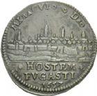 Photo numismatique  ARCHIVES VENTE 2013 -Coll Henri Dolet JETONS DE L'ANCIEN RÉGIME VALENCIENNES Délivrance de la Ville, juin 1657. 560- Jeton 1657.