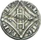 Photo numismatique  ARCHIVES VENTE 2013 -Coll Henri Dolet MONNAIES DU HAINAUT - VALENCIENNES Comté de HAINAUT GUILLAUME Ier (1304-1337) 450- Esterlin à l'escielette ou au losange, Valenciennes.