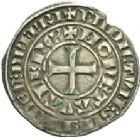 Photo numismatique  ARCHIVES VENTE 2013 -Coll Henri Dolet MONNAIES DU HAINAUT - VALENCIENNES Comté de HAINAUT GUILLAUME Ier (1304-1337) 448- Demi-gros penan ou « durant », Valenciennes après 1314.