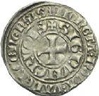 Photo numismatique  ARCHIVES VENTE 2013 -Coll Henri Dolet MONNAIES DU HAINAUT - VALENCIENNES Comté de HAINAUT GUILLAUME Ier (1304-1337) 442- Baudekin ou « pillewille » de la 2ème émission, Valenciennes vers 1311/1312.