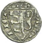 Photo numismatique  ARCHIVES VENTE 2013 -Coll Henri Dolet MONNAIES DU HAINAUT - VALENCIENNES Comté de HAINAUT JEAN II d'Avesnes (1280-1304) 432- Esterlin au lion, Valenciennes vers 1290.