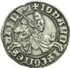 Photo numismatique  ARCHIVES VENTE 2013 -Coll Henri Dolet MONNAIES DU HAINAUT - VALENCIENNES Comté de HAINAUT JEAN II d'Avesnes (1280-1304) 430- Baudekin du 2ème type, dit passavant neuf, Valenciennes entre août 1302 et août 1303.