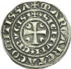 Photo numismatique  ARCHIVES VENTE 2013 -Coll Henri Dolet MONNAIES DU HAINAUT - VALENCIENNES Comté de HAINAUT MARGUERITE de Constantinople (1244-1280) 424- Baudekin du 4ème type, Valenciennes.